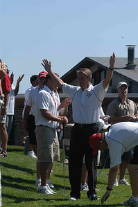 and then gloats over his win on the Mayor Long Drive Challenge