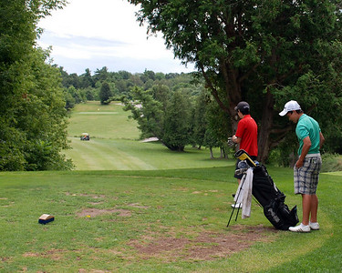 The view of the first hole from the tee