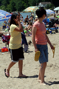 Julia and Carolyn at Port Dover Beach