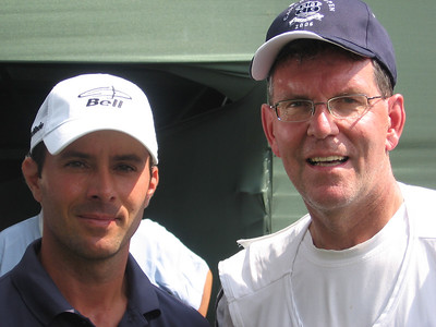 Mike Weir and Nelson Phillips, the other pro caddy.  Nelson took the pictures.