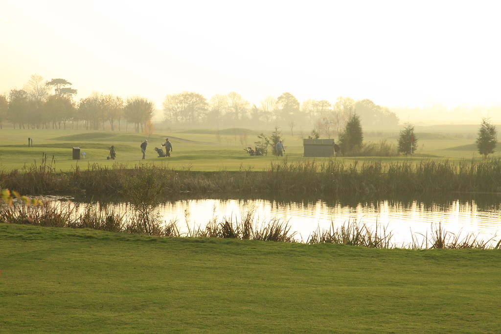 13th green late afternoon