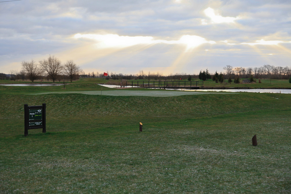 1st tee - looking across the lake in front of the 18th