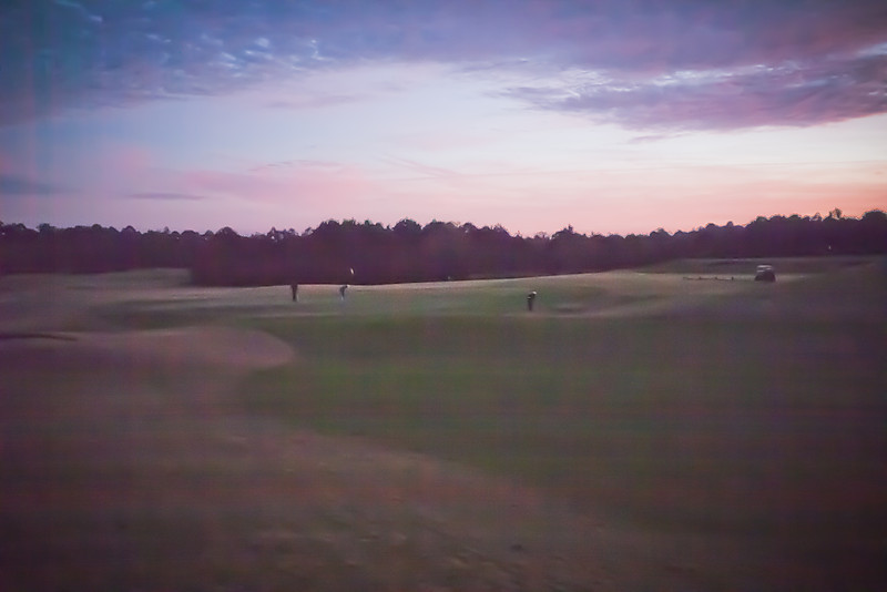36th hole of the day ... in the dark