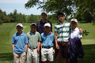 The Boys with Mama: David, Nick, William, Patrick and Matthew.