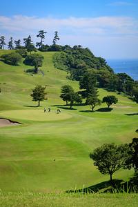 Kawana, Fuji Course - 15th tee box on the hill in the distance