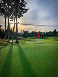 Late-afternoon golf - Wing Point golf club, Bainbridge Island.
