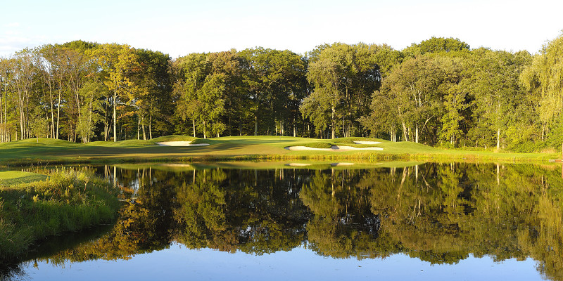 "Hole #17 (Summer)<br /> Panoramic print (example: 10""x20"")"