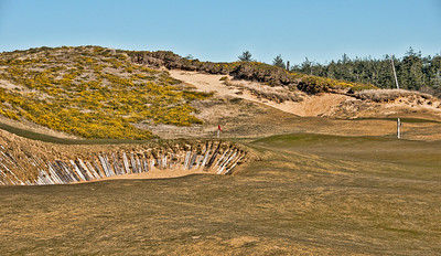 The bunker on the other side of the sand hill.
