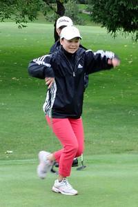 Carolyn demonstrates her Kunfu Crane stance