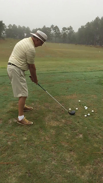 Mike Newman at Uchee Trail driving Range, Cochran, GA