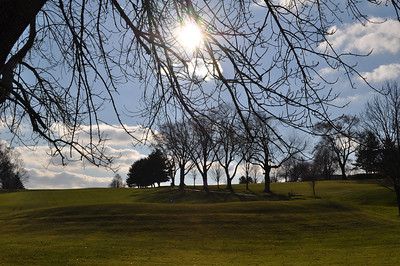 Winter Sun 2011 at Oakley Country Club from Behind the 4th Green.