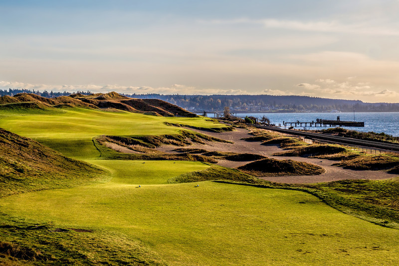 Chambers Bay Golf Course, Hole #16 (Beached)
