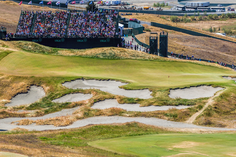 Chambers Bay Golf Course, Hole #9 (Olympus), US Open Championship