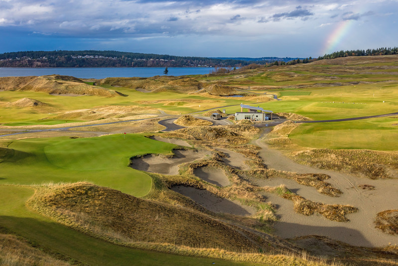Chambers Bay Golf Course, Hole #9 (Olympus)