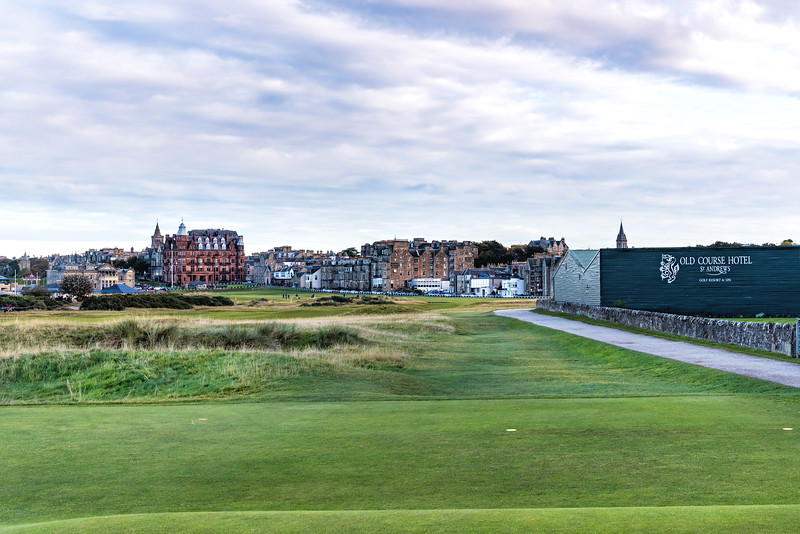 The Old Course at St Andrews, Hole #17, Par 4, Road