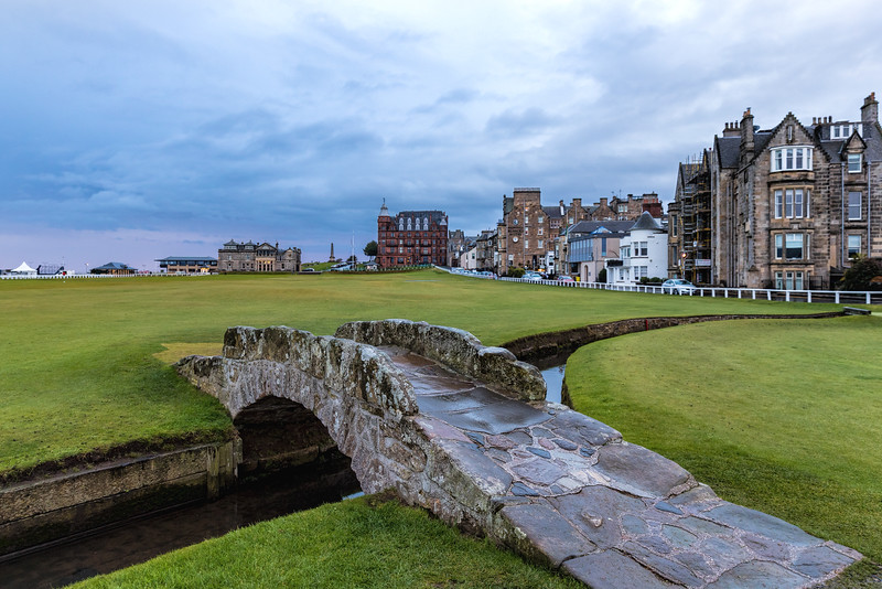 Swilcan Bridge,  Old Course at St Andrews, Hole #18, Par 4, Tom Morris