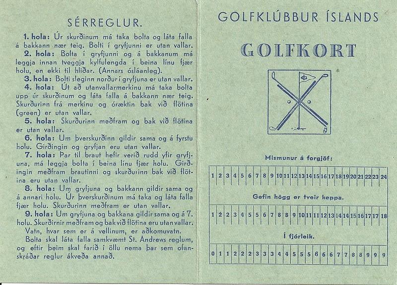 Skorkort I-a (1937-45)