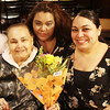 Lynn, Ma. 5-11-17. Elba Zabala with her two daughters Zoraida Rios and Marisol Vega who are mothers in thier own right, celebrate Mothers's Day at the Old Tyme Restaurant in Lynn.