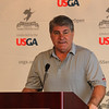 Peabody, Ma. 5-15-17. Ray Bourque, 2017 U.S. Senior Open Honorary Chairman, speaking at the Senior  Open Media Day at Salem Country Club.