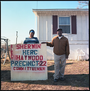 14 - Sherwin Haywood with Election Sign