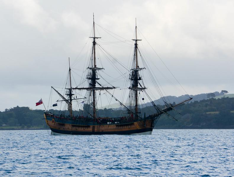 Replica of Capt. Cook's ship