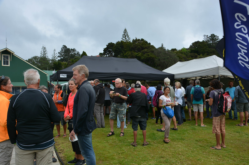 Cruisers getting together at the marina in Opua