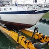 Those pads hydraulically fit the hull and lift the boat