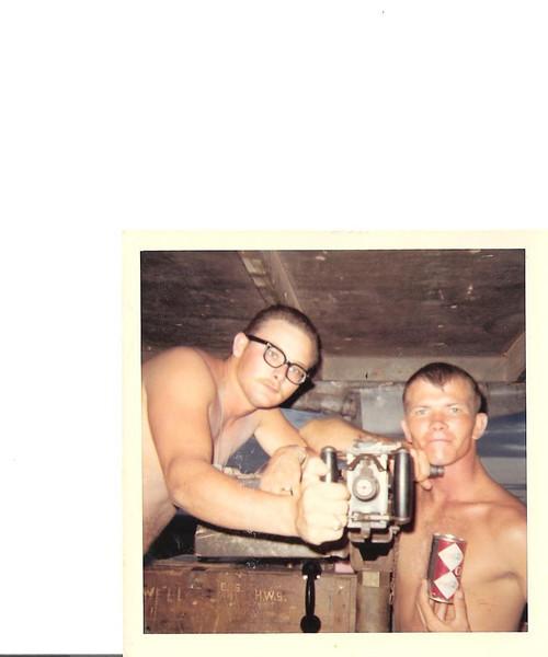 Darrell Battin on right<br /> Photo submitted by BU3 Eugene Battistoni