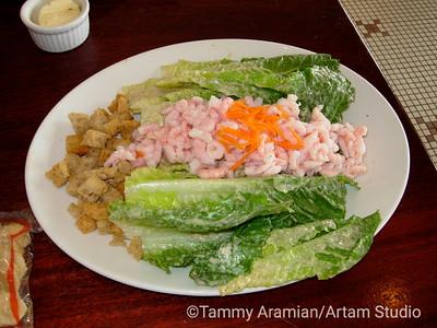 Caesar with shrimp July 21, 2008