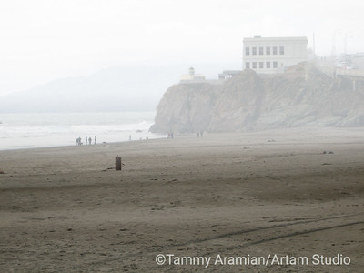 Cliff House in fog