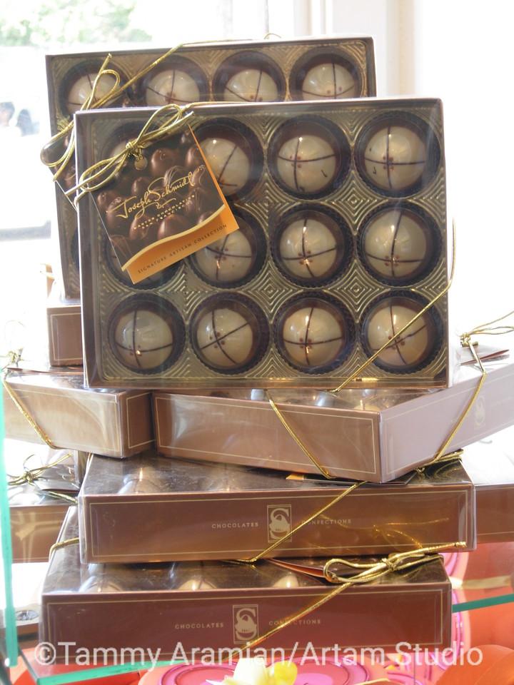 window display of boxed truffles