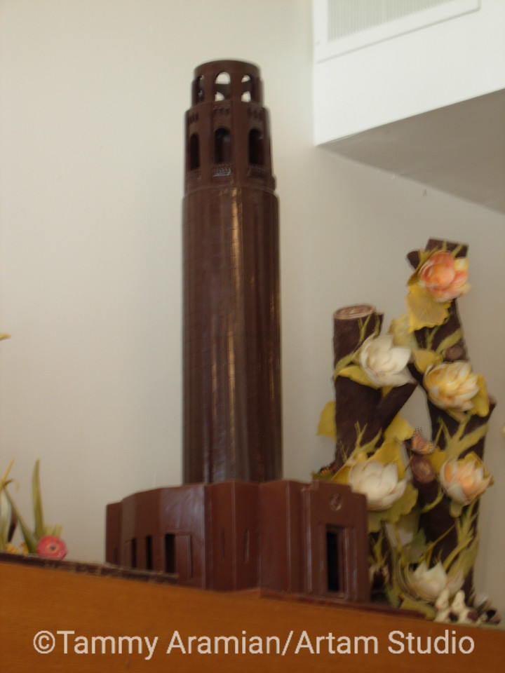 2.5-foot tall chocolate Coit Tower