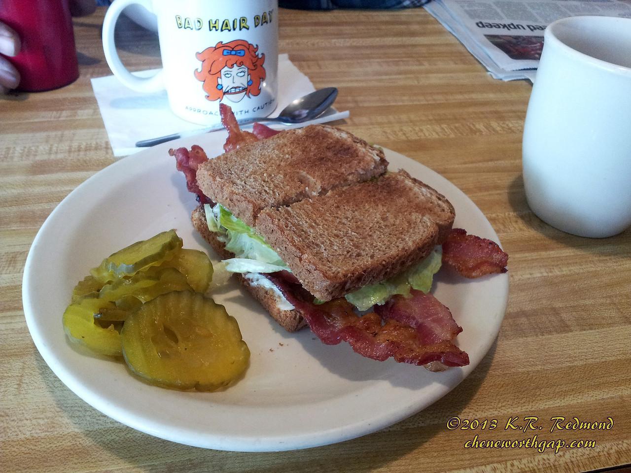 BLT on Wheat Toast at Scotties