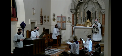 During the Chanting of the Passion of St John