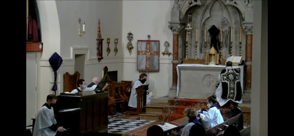 Genuflection in the Passion of St John