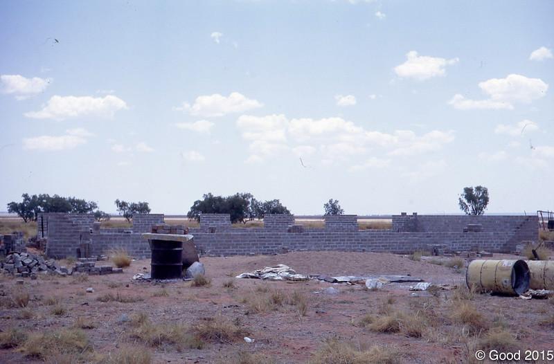 1970 New brick church goig up