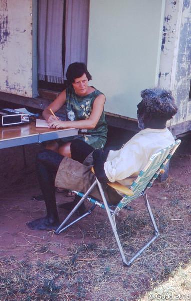 1968 Eirlys Richards learning Walmajari with Limerick