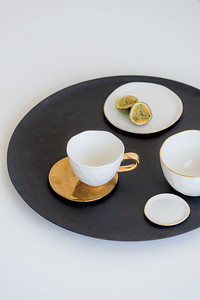 UNC Good Morning plate (Morning White), Good Morning Bowl (Morning White), Good Morning plate Small (Morning White), Good Morning Cup (White), Plate Grow (Gold), Tray Shizu Mango Wood