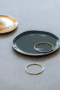 UNC Good Morning Plate (Blue Green), Plate Grow (Gold)