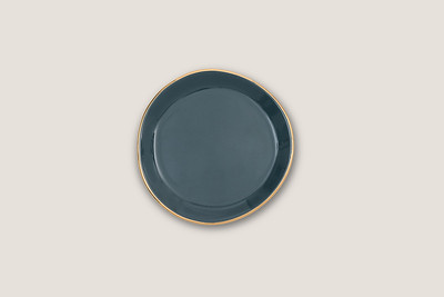 GOOD MORNING PLATE SMALL - BLUE GREEN