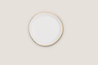 GOOD MORNING PLATE SMALL - MORNING WHITE