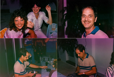 Lets see. This picture was taken at a party held by Mike Lee. First lady is Iva Hegg and the other is Cecelia Ter Keurst. The other pictures are of a young James Terkeurst, with more hair then he has today.