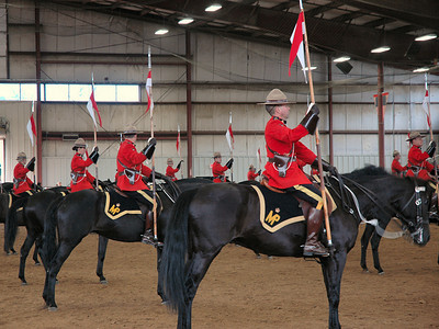 Topsfield Fair  Royal Canadian Mounted Police Musical Ride Thrust and Parry Drill