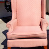 Hickory Hill Queen Anne Style Upholstered Accent Chair.  28 x 30 x 44.  <b>$150 </b>