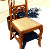 Vintage Solid Wood Accent Chair.  17 x 19 x 34.  <b>$25</b>