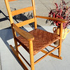 Small Profile Solid Wood Strap Bamboo Rocker in Very Good Condition.  26 x 27 x 35.  <b>$60</b>