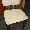 Attractive Retro Solid Wood Upholstered Studio Chair.  18 x 18 x 30.  <b>$75</b>