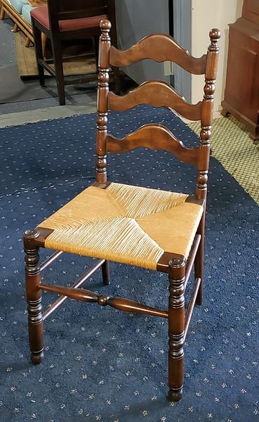 Spindle Leg Ladder Back Chair
