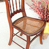 Unique Solid Wood Accent Chair with Wicker Seat.  17 x 20 x 32.  <b>$65</b>