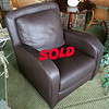Leatherette Lounge Chair